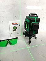 💡Лазерный уровень, нивелир AL-FA ALNL-3DG (зеленый и очень яркий тонкий луч)