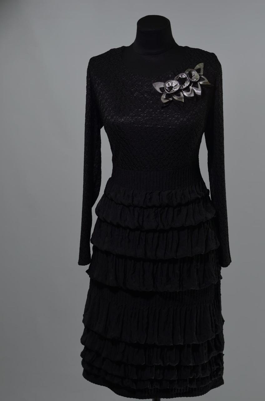 """Волшебное женское платье  ткань """"Кружевная вязка + стрейч"""" 50 размер батал"""