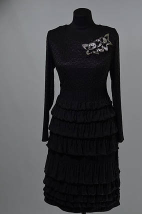 """Волшебное женское платье  ткань """"Кружевная вязка + стрейч"""" 50 размер батал, фото 2"""