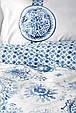 Постельное белье Karaca Home ранфорс Felinda mavi голубой полуторное Коллекция 2019, фото 3
