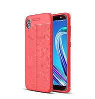 Чехол для Asus Zenfone Live L2 / ZA550KL силикон Original Auto Focus Soft Touch красный