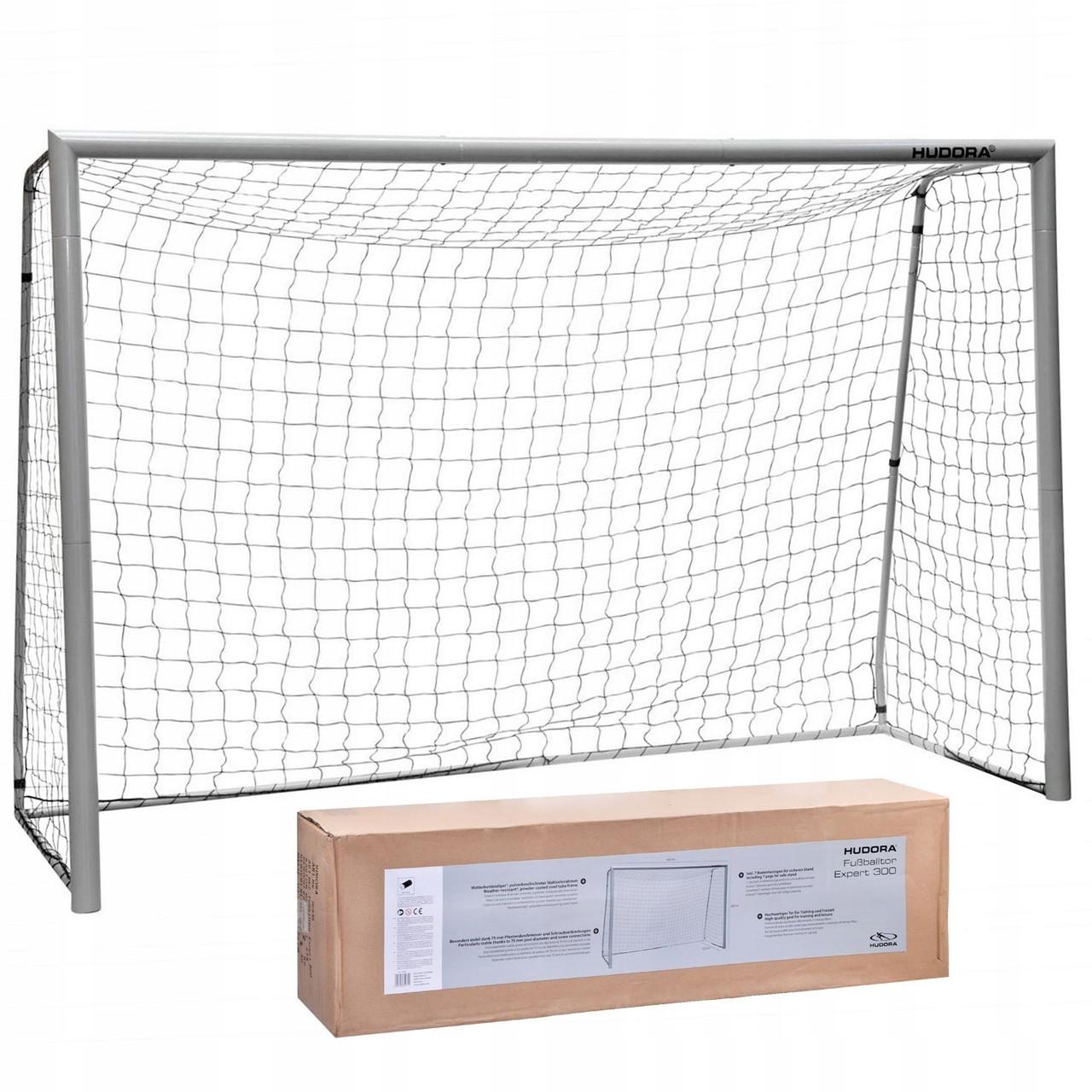 Ворота футбольні розбірні з сіткою 300 * 200 * 120 см