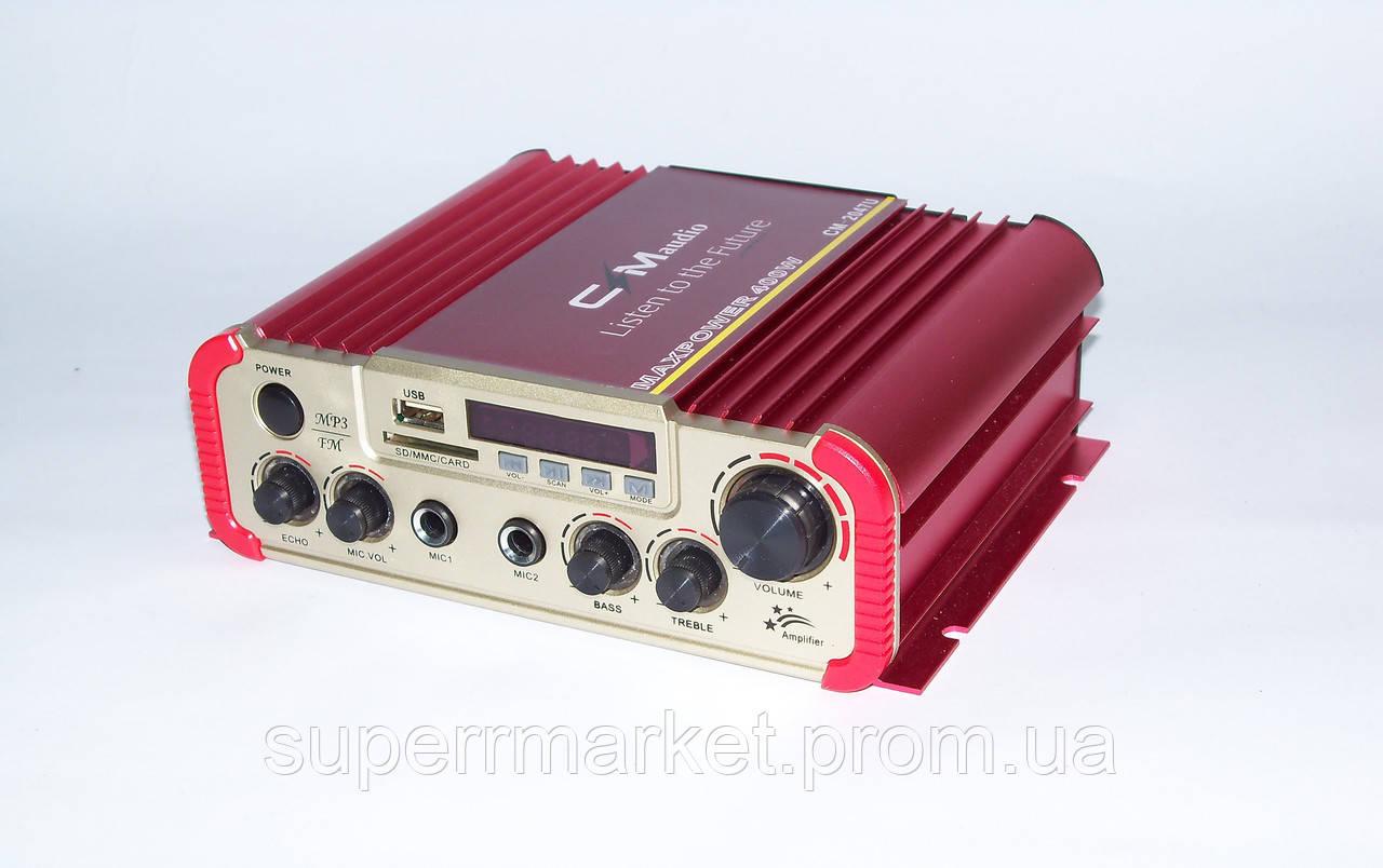 Автомобильный усилитель CMaudio CM-2047U c Karaoke MAXPOWER 400W  2*20W