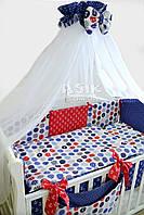 Комплект постельного белья с якорями 8 предметов, ТМ Asik