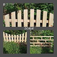 Заборчик, садовый, деревянный, штакетник, ограда, изгородь, фото 1