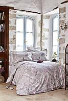 Постельное белье Karaca Home ранфорс Akina gri серый полуторное Коллекция 2019