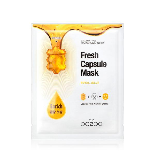 Маска с капсулой-активатором и маточным молочком для питания кожи THE OOZOO Fresh Capsule Mask Royal Jelly