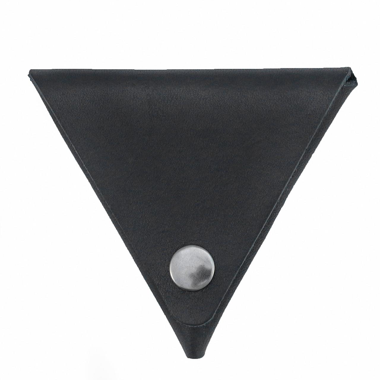 Монетница ручной работы из кожи Краст VOILE черная (967062538)