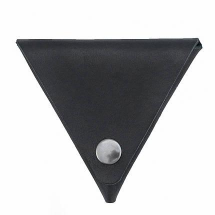 Монетница ручной работы из кожи Краст VOILE черная (967062538), фото 2