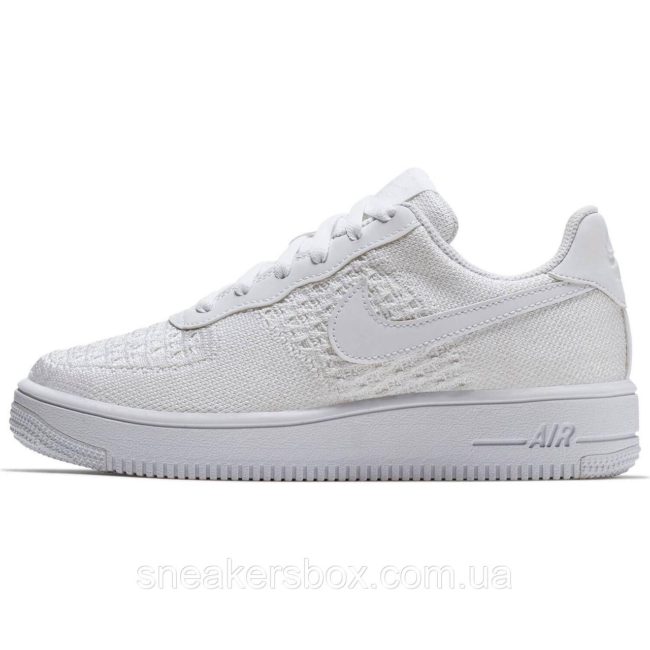 261677bd Оригинальные кроссовки Nike Air Force 1 Flyknit 2.0 (GS) (BV0063-100 ...
