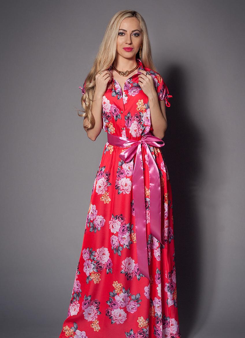 1ff501433bd4a Женское летнее платье макси с цветами - Купить платье, женская одежда  NATALI в Хмельницком