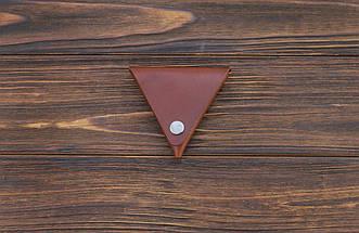 Монетница ручной работы из кожи Краст VOILE коньячный (967066634), фото 3
