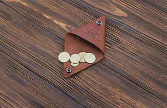 Монетница ручной работы из кожи Краст VOILE коньячный (967066634), фото 2