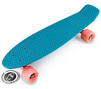 Скоростной Скейт Fish Skateboards Original Replica «Морской»  розовые колеса  22″ / пенниборд