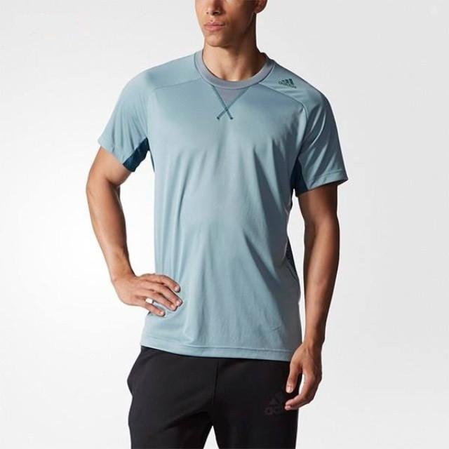 Футболка спортивная мужская adidas Kasane SS Tee AB3413 (зеленая, полиэстер, для тренировок, логотип адидас)
