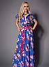 Женское летнее платье длинное с цветами
