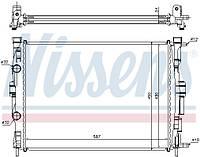 Радиатор системы охлаждения на Рено Меган II 1.5dci, 1.6i 16V, 1.4i 16V, 1.9dc / NISSENS 63769
