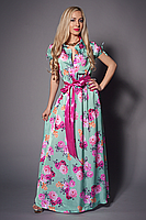Летнее длинное платье с цветами, фото 2