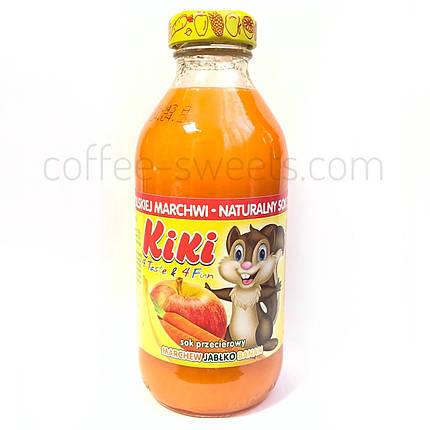 Сок Kiki (яблоко-банан-морковка) 330 ml, фото 2