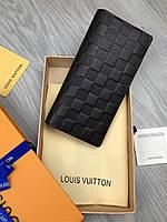 ccf304aaf704 Брендовый бумажник Louis Vuitton коричневый Женский кожа Портмоне кошелек  Модный Луи Виттон копия