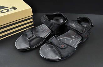 Сандалии Мужские Кожаные Adidas Летние Босоножки, фото 2