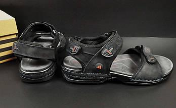 Сандалии Мужские Кожаные Adidas Летние Босоножки, фото 3