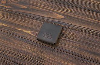 Монетница из кожи ручной работы VOILE темно-коричневая (967084763), фото 3