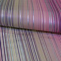 Обои, бумажные, розовый, яркие, полоса,  Флора 111-05, 0,53*10м