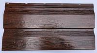 Металлосайдинг Корабальная доска , цвет Темное дерево, Китай