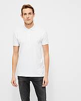 Мужская поло белая Kington stretch от Tailored & Originalsв размере XL