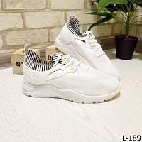 37 р. Кроссовки женские белые из текстиля на подошве, подошва, текстиль, фото 1