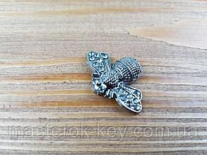 Украшение муха 017071 цвет темный-никель
