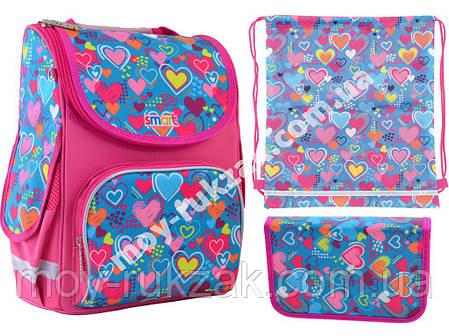 """Набор рюкзак ортопедический каркасный + сумка для обуви + пенал «Smart» PG-11 """"Charms"""" 555928-1, фото 2"""