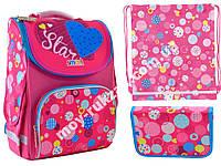 "Набор рюкзак ортопедический каркасный + сумка для обуви + пенал «Smart» PG-11 ""Сolourful spots"" 555900-1"