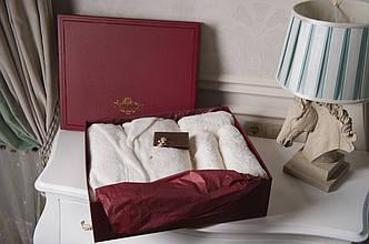 Банный набор Vincent Devois PATRICE Мужской халат + 2 полотенца + брошь.