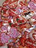 """Набор """"Сердца-открытки"""" 100 шт. на стикерах, фото 3"""