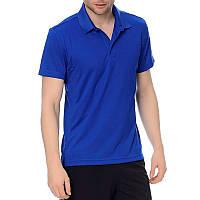 Футболка поло спортивная мужская adidas Ksn Polo S17098 (синяя, полиэстер, для тренировок, логотип адидас)