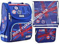 """Набор рюкзак ортопедический каркасный + сумка для обуви + пенал «Smart» PG-11 """"London"""" 555987-1"""
