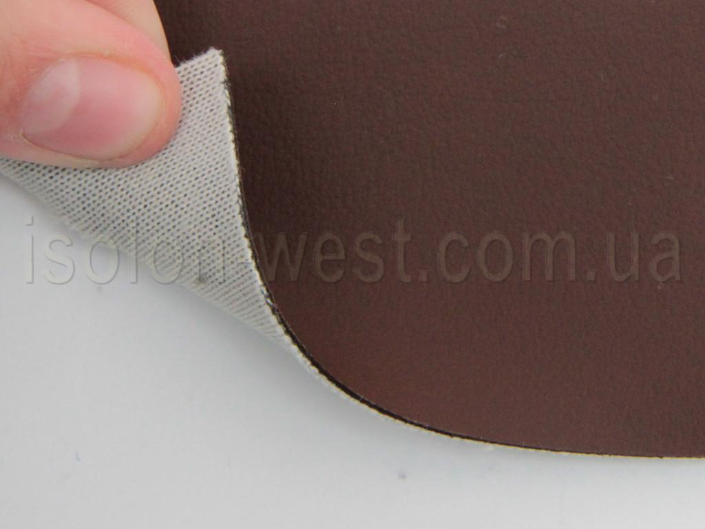 Авто кожзам коричневый, на тканевой основе
