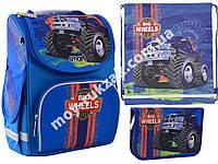 """Набор рюкзак ортопедический каркасный + сумка для обуви + пенал «Smart» PG-11 """"Big Wheels"""" 555971-1"""