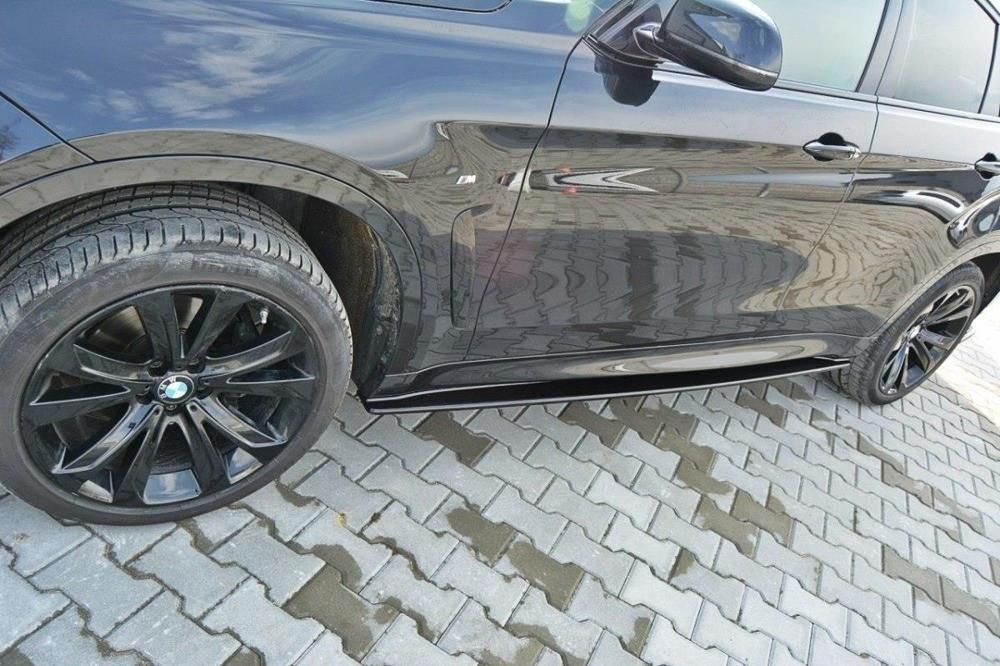 Диффузор порогов накладка тюнинг BMW X6 F16 M Sport