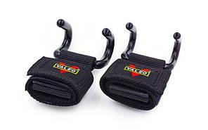 Крюк-ремни атлетические для уменьшения нагрузки на пальцы (2шт) VALEO TA-8130, фото 2