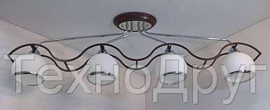 Люстра потолочная на 4 лампочки (29х12х93 см.) Хром, венге YR-11143/4