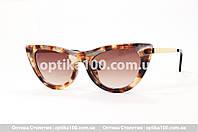 Солнцезащитные женские очки для зрения. Узкие, форма «Лисички»