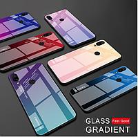Чехол-накладка TPU+Glass Gradient HELLO для Xiaomi Redmi 7 / Есть стекла/, фото 1