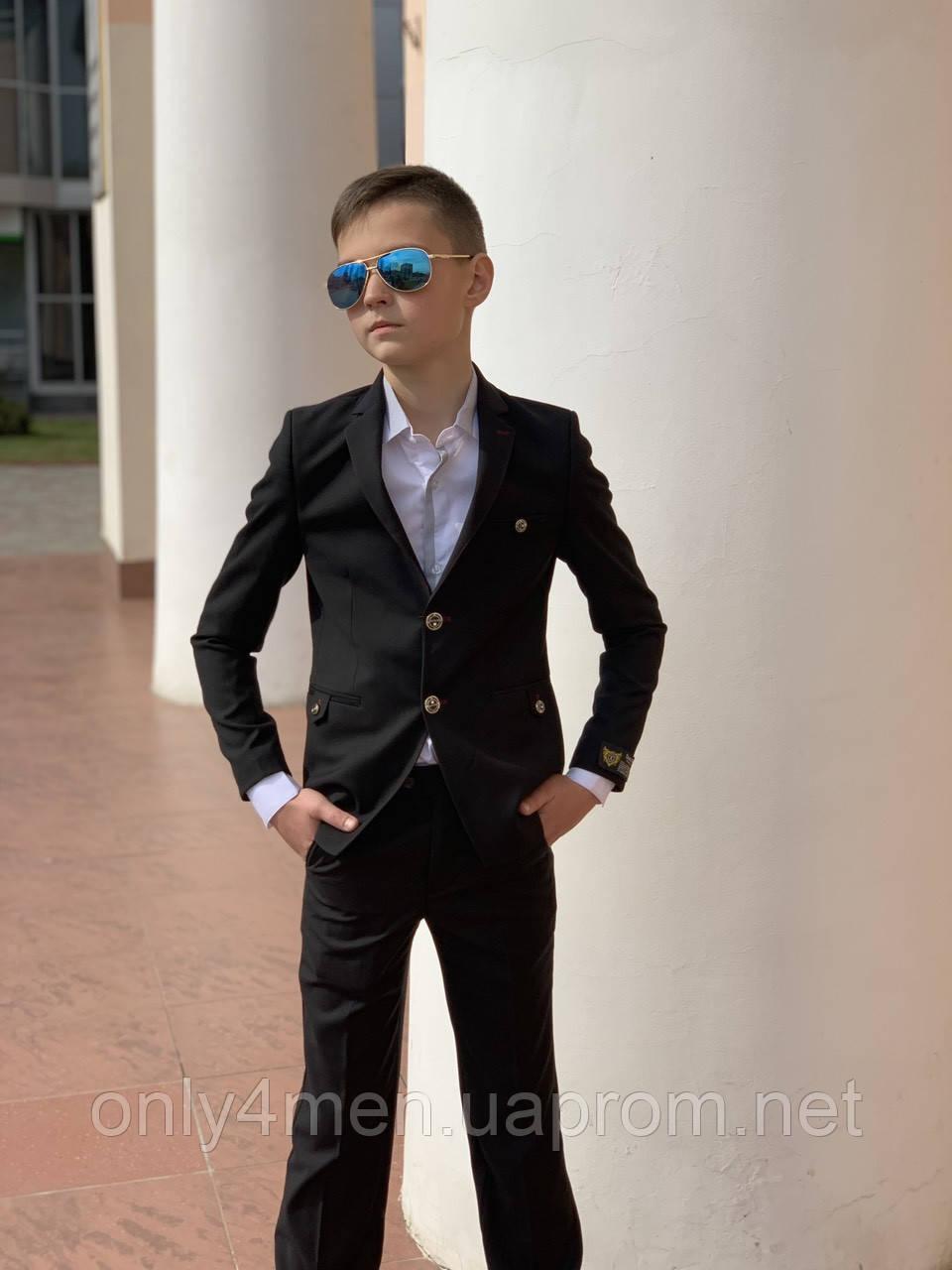 Класичний костюм,Туреччина DoniRicci 146-176(чорний)