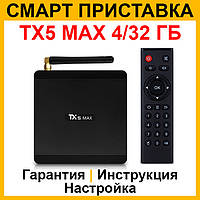 Смарт ТВ приставка Tanix TX5 max 4/32. Андроид приставка Smart TV x96, медиаплеер andoid x92, таникс тх