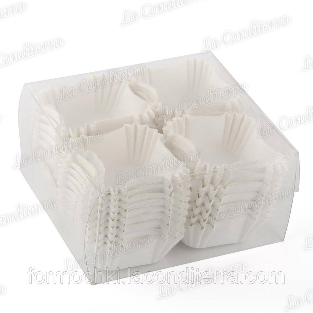 Паперові форми для кексів, цукерок і тістечок ДО-40-ПУ, білі (400 шт.)
