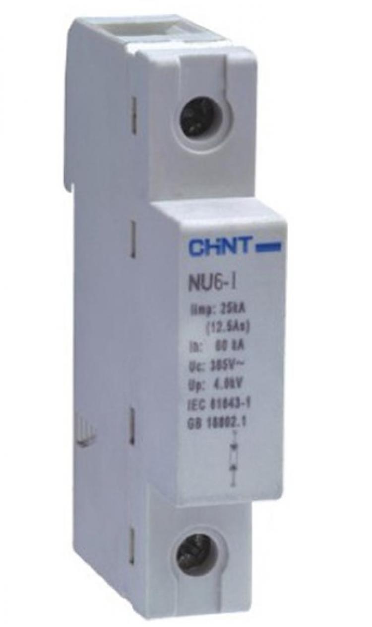 Устройство защиты от импульсных перенапряжений NU6 УЗИП NU6-II 1P C 275V-550V 5kA CHINT (ЧИНТ)