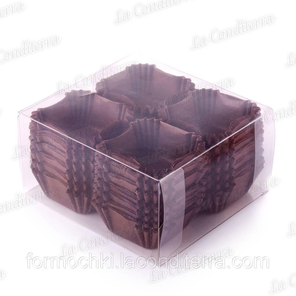 Паперові форми для кексів, цукерок і тістечок ДО-40-ПУ, коричневі (400 шт.)